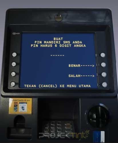 Buat PIN SMS Banking Mandiri