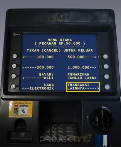 Daftar SMS Banking Mandiri di atm