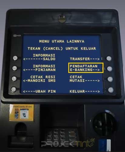 Pendaftaran E-Banking Mandiri