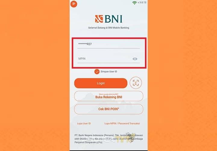 Buka Aplikasi BNI