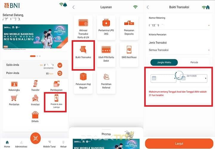 Cek Transaksin Terakhir BNI Mobile Banking Terbaru