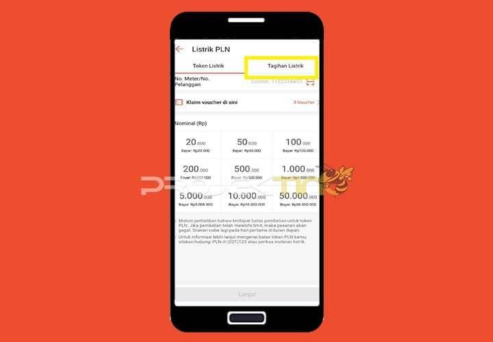 Buka Aplikasi Shopee Tagihan