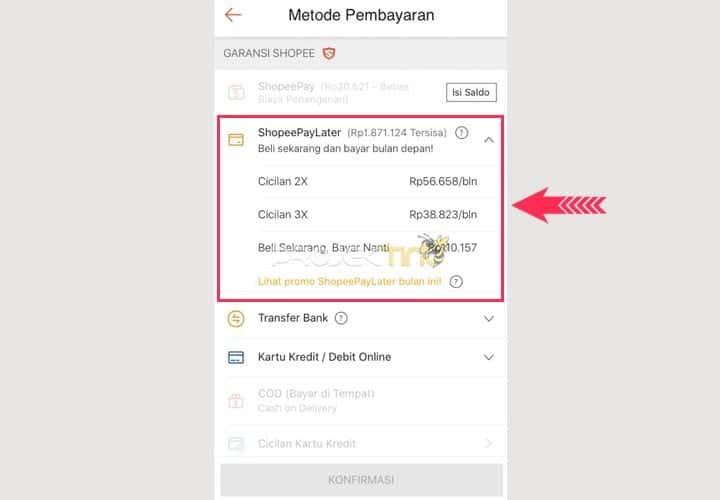 Cara Bayar Dengan Shopee PayLater