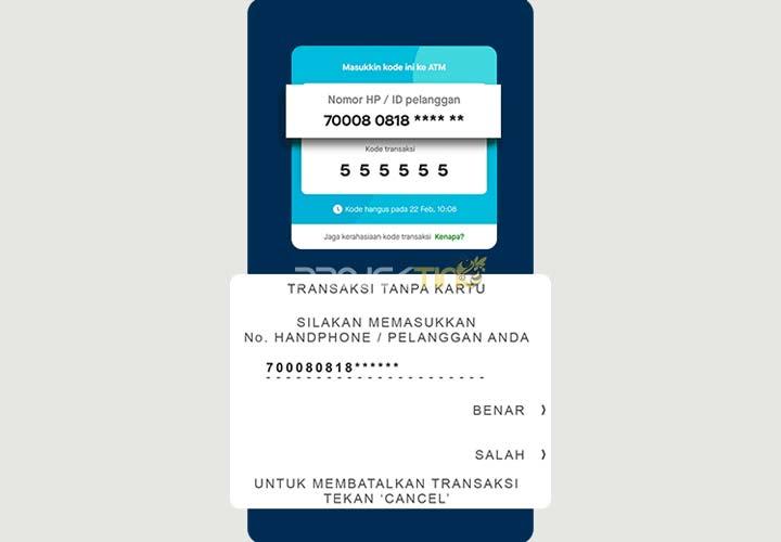 Cara Tarik Tunai GoPay Tanpa Kartu di ATM