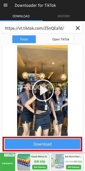 Download Video TikTok Ke Galeri