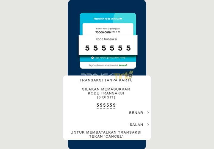 Kode Transaksi Tarik Tunai GoPay di ATM BCA