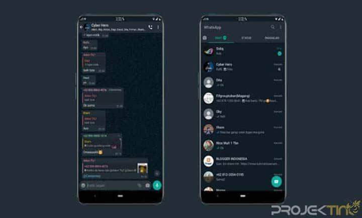 Cara Aktifkan Dark Mode Whatsapp Android Terbaru