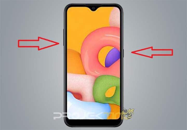 Cara Screenshot Samsung M02 Kombinasi