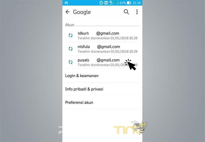 Cara Lain Untuk Mengganti Akun Utama di Aplikasi Android