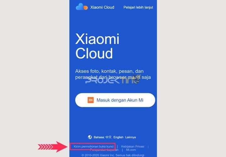 Cara Mengajukan Permohonan Buka Kunci Xiaomi