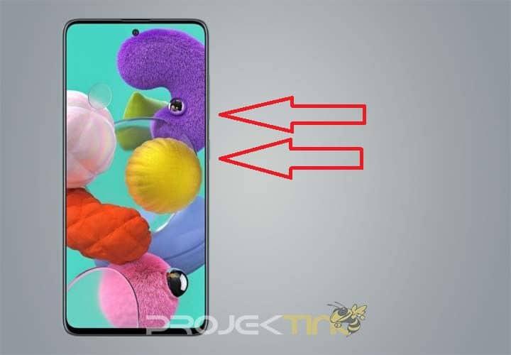 Cara Scereenshot Samsung A52 Tombol
