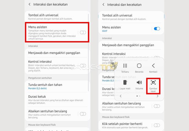Cara Screenshot Samsung A02 tanpa tombol