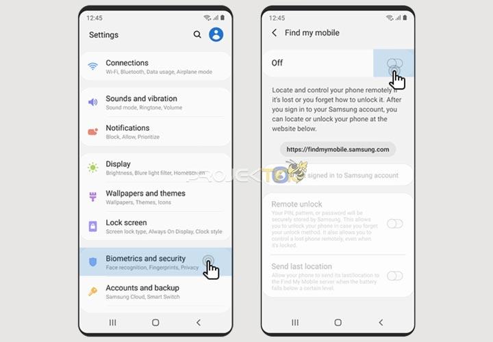 Cara mengaktifkan Samsung Find My Mobile