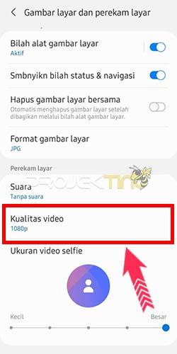 Cara Mengatur Hasil Perekaman Layar Samsung