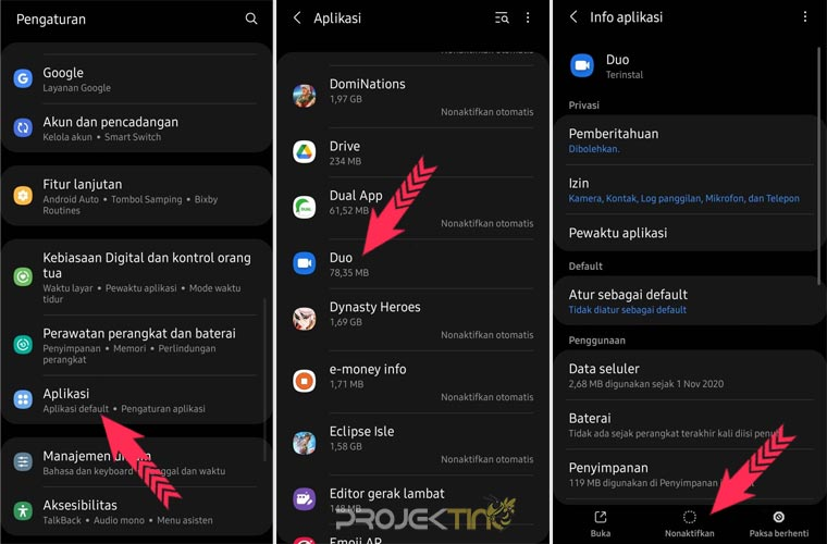 Cara Menghapus Aplikasi Bawaan Samsung