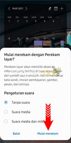 Cara Merekam Layar Samsung