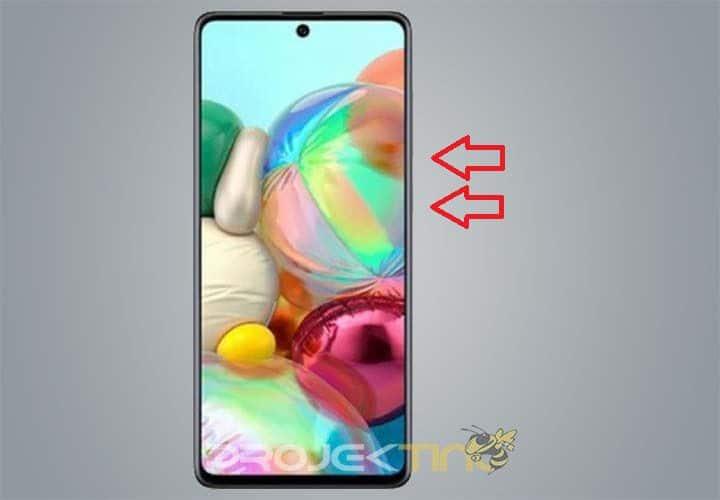 Cara Screenshot Samsung A72 Panjang