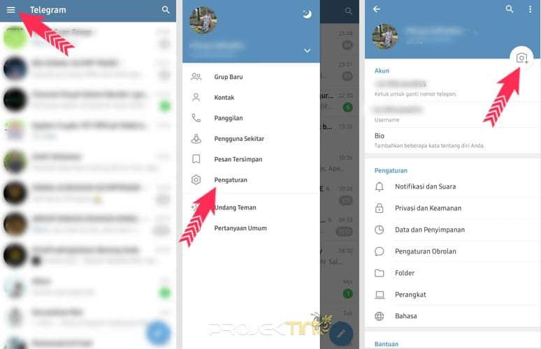 Cara Update Status Telegram