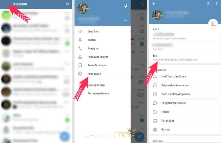 Cara Update Status di Telegram