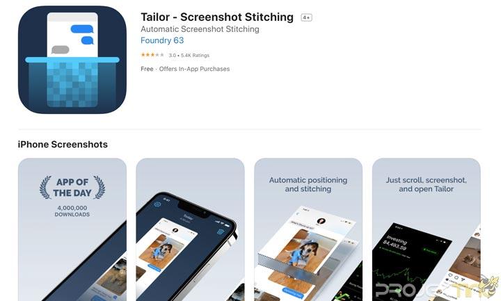 Aplikasi Screenshot Panjang iPhone