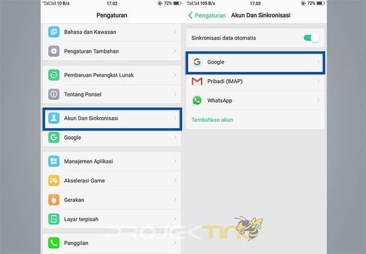 Cara Menghapus Gmail di HP OPPO All Type