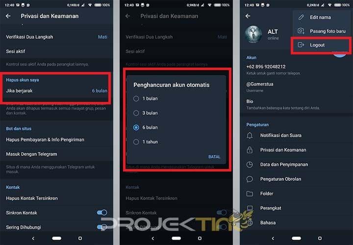 Cara Menonaktifkan Telegram Permanen