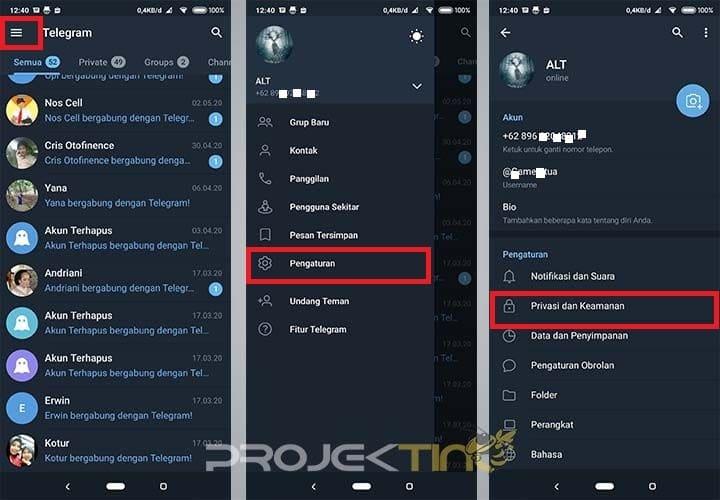Cara Menonaktifkan Telegram
