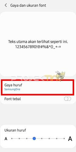 Cara Ganti Font Hp Samsung