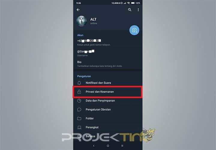 Cara Mengunci Aplikasi Telegram di HP