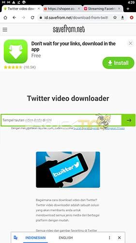 Situs Download Video Twitter Gratis