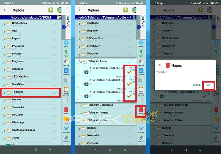 Cara Menghapus Downloadan Telegram