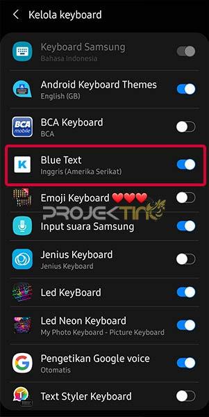 Blue Text Keyboard