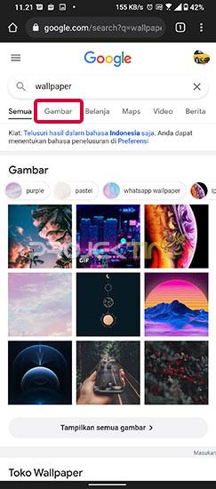 Cara Menyimpan Gambar Google di Android Ke Galeri