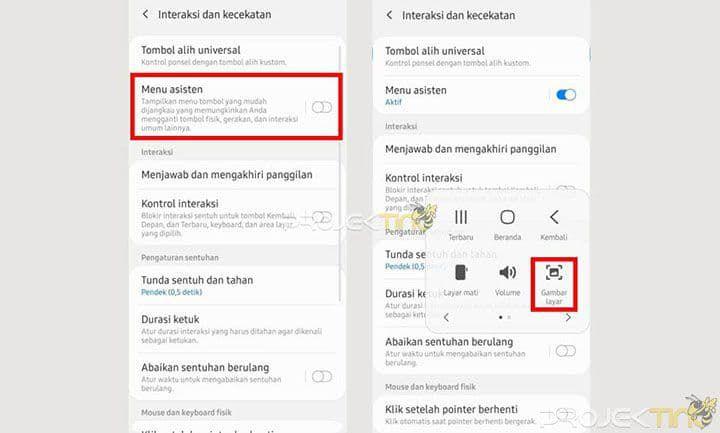 Cara Screenshot Samsung A52s Panjang