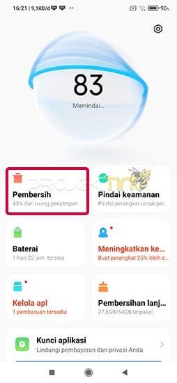 Pembersih Cache Xiaomi