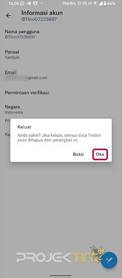 Cara Logout Akun Twitter di Android