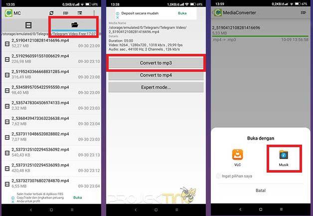 Cara Mengubah Video Menjadi Audio di Android Tanpa Aplikasi